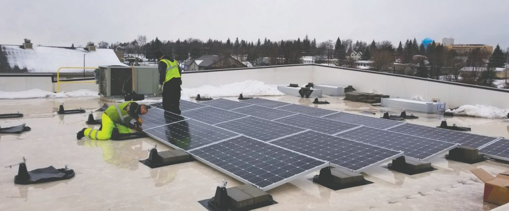 Commercial rooftop solar panels | Wolf Track Energy