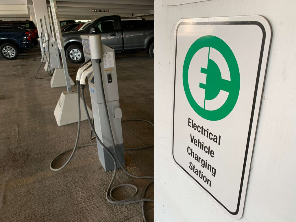 Electric vehicle charging station   Wolf Track Energy